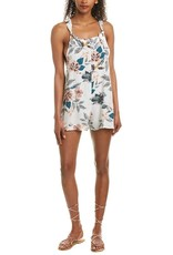 SALTWATER LUXE VANILLA OVERALL, floral romper