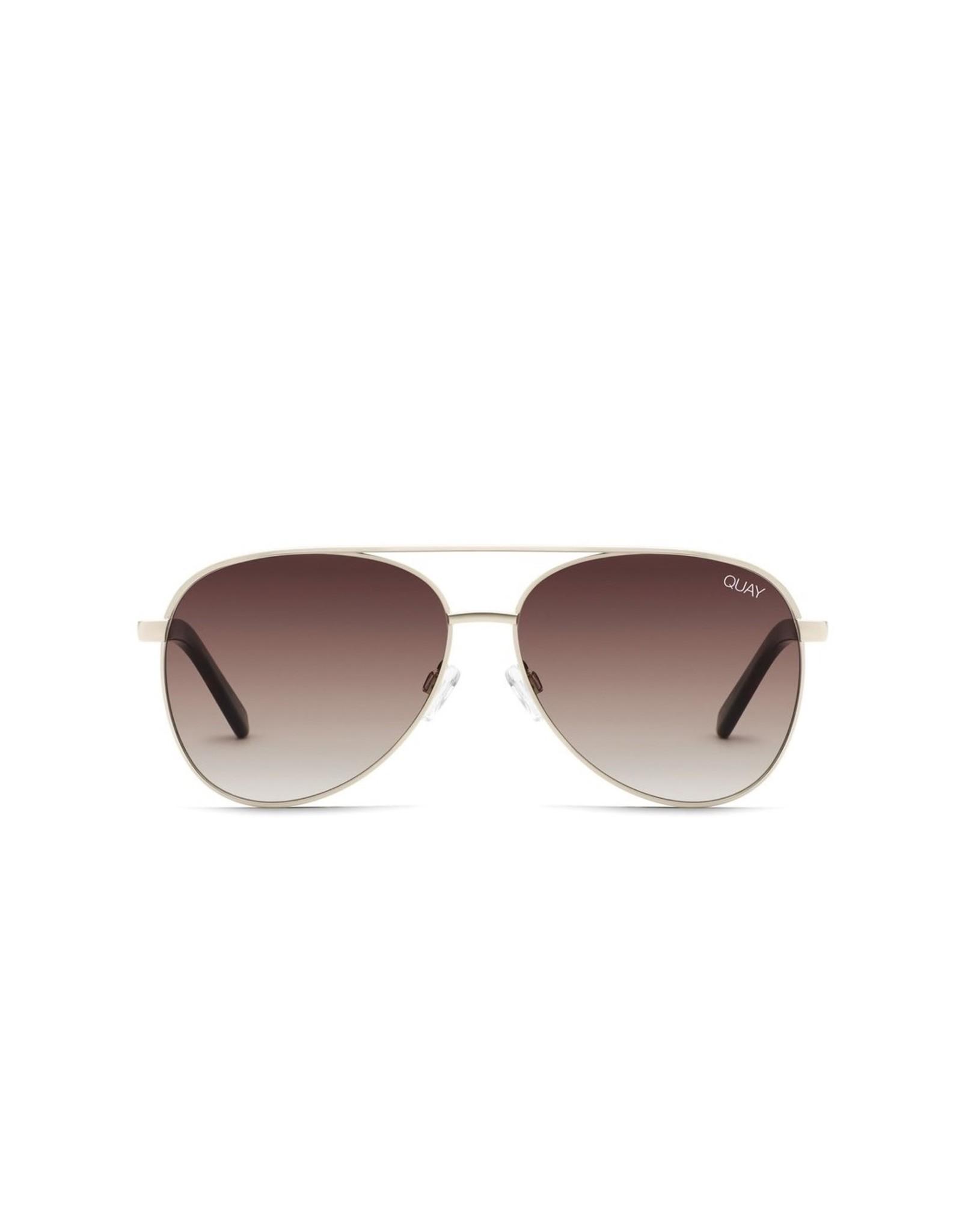 QUAY VIVIENNE Mini Gold/BRN Sunglasses