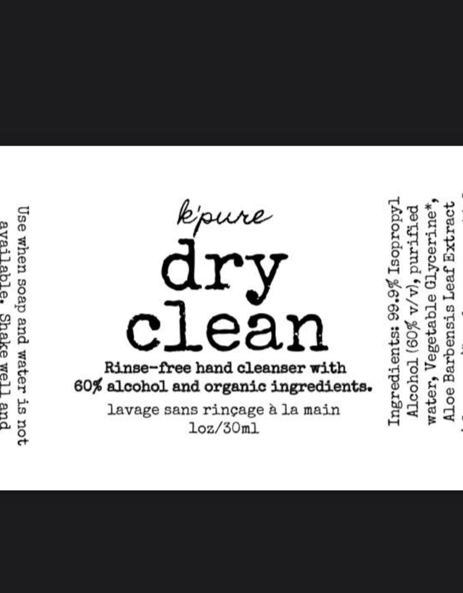 K'PURE DRY CLEAN hand sanitizer spray