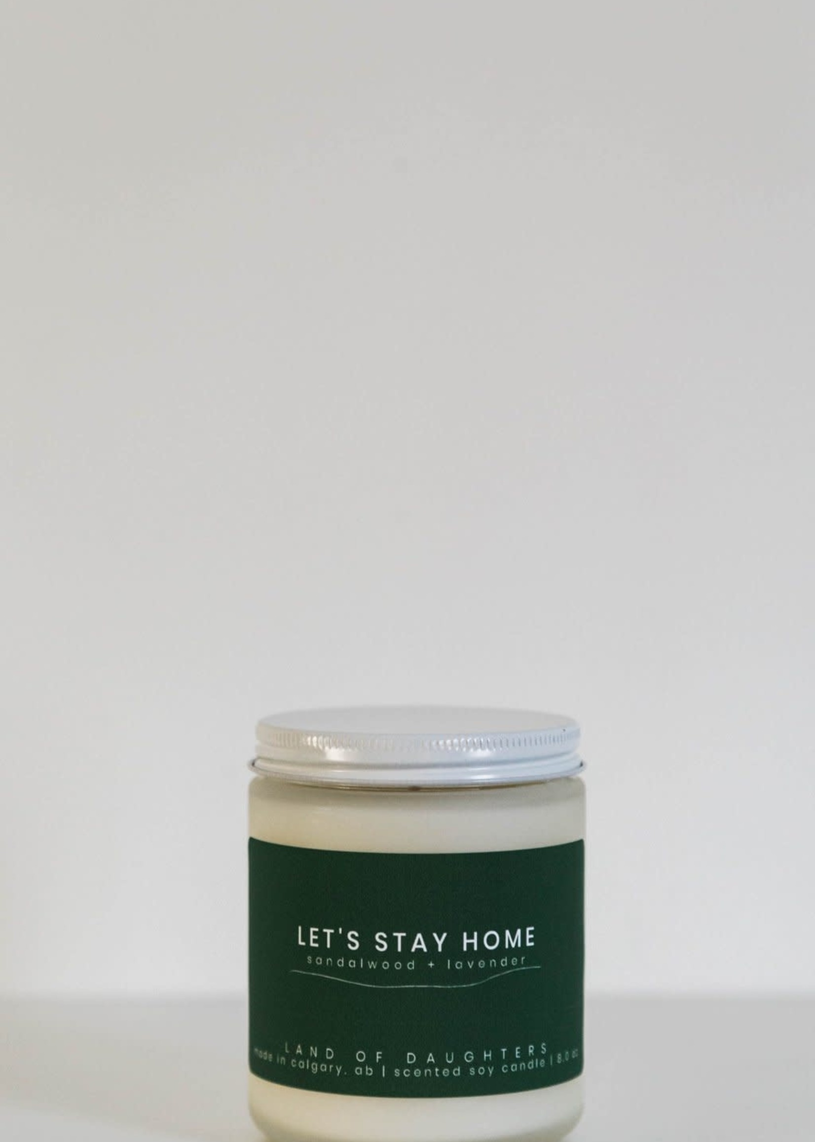 LAND of DAUGHTERS Let's Stay Home CANDLE
