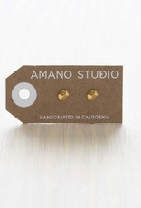 AMANO studio NUGGET Stud, 24k gold plated