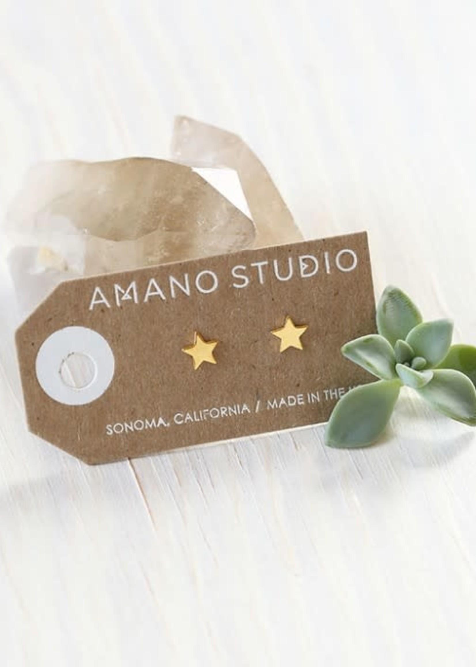 AMANO studio STAR Stud, 24K gold plated
