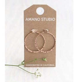 AMANO studio HAMMERED ROSE GOLD HOOP, 18k gold plated