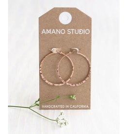 AMANO studio HAMMERED ROSE GOLD HOOP, 18k gold plated
