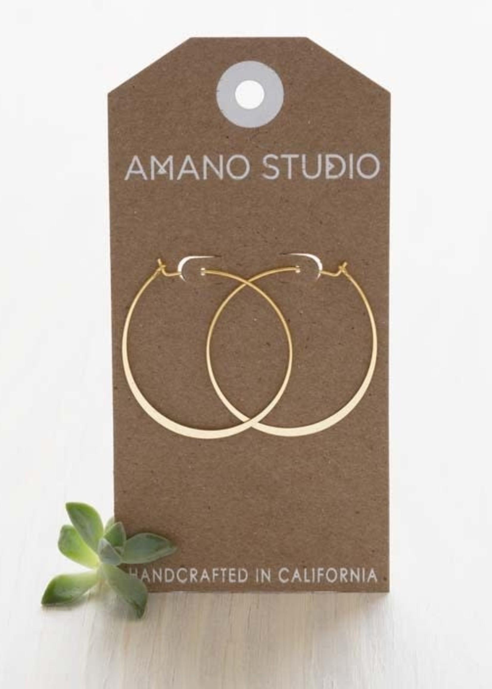 "AMANO studio 1.5"" HOOP Earring, 24K gold plated"