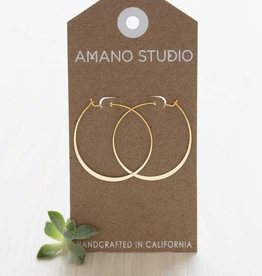 "AMANO studio 1.5"" HOOP Earring, 24K gold plated"