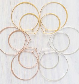 "AMANO studio 1.5"" HOOP Earring, ROSE GOLD,  18K gold plated"