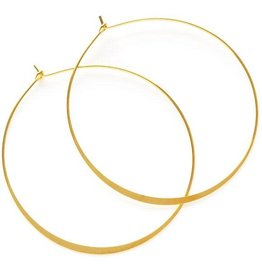 "AMANO studio 2"" HOOP Earring, 24K gold plated"