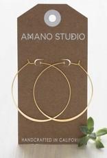 "AMANO studio 2"" HOOP Earring, 24K gold plated"