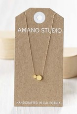 AMANO studio DOT DOT Necklace, 14K Gold Plated