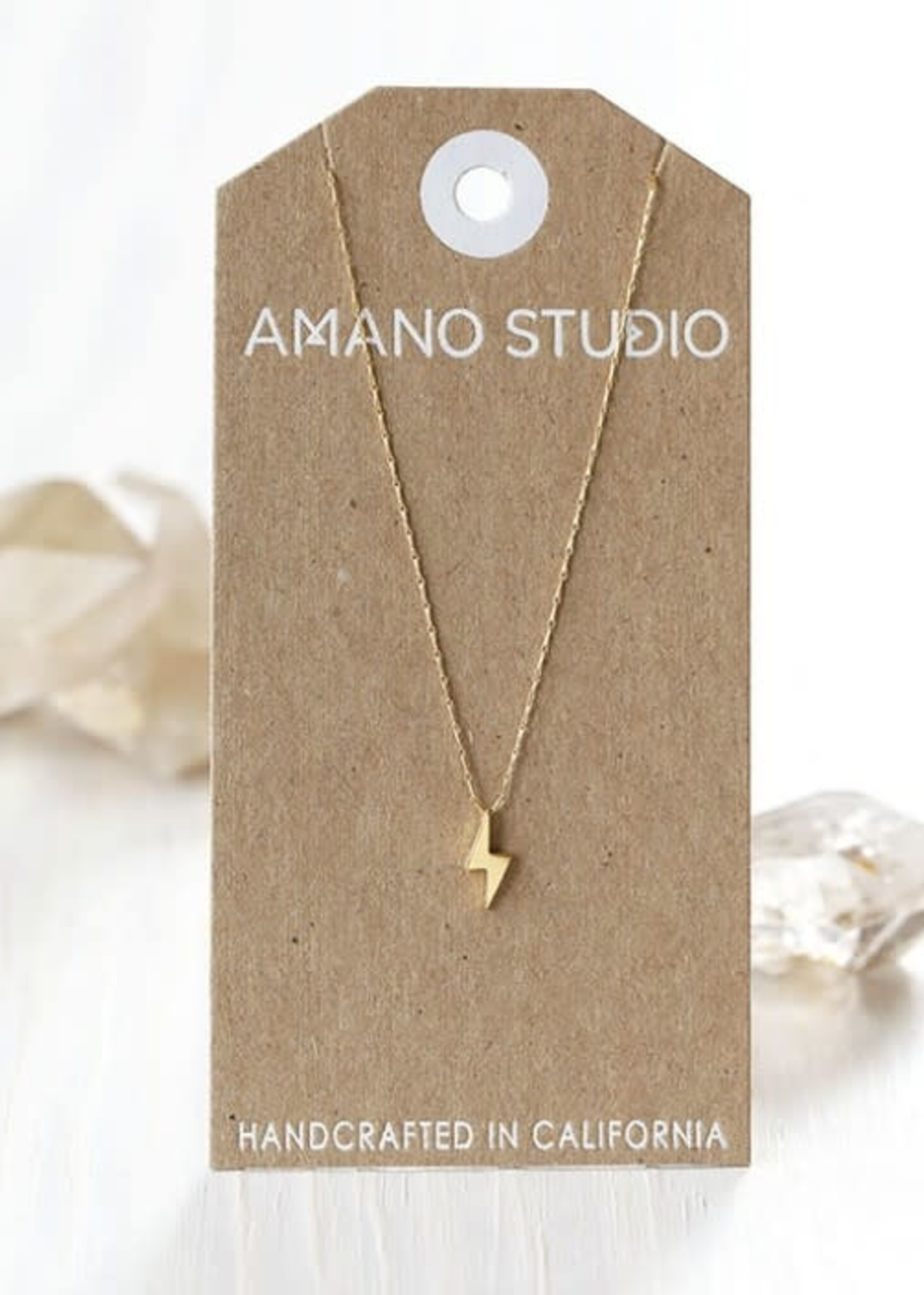 AMANO studio BOLT Necklace, 14k Gold Plated