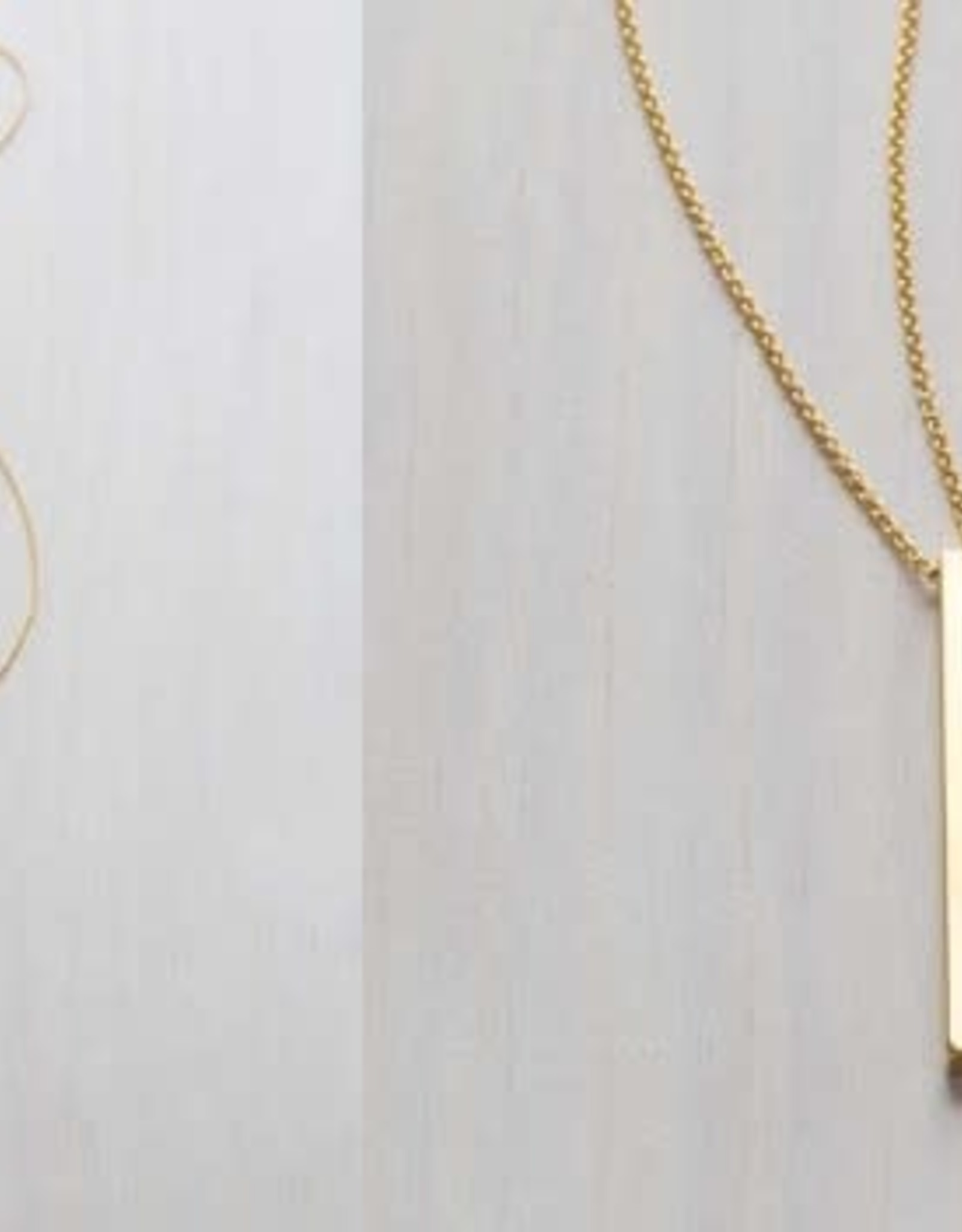 "AMANO studio BAR Necklaces, 30"" length, 24K gold plated"