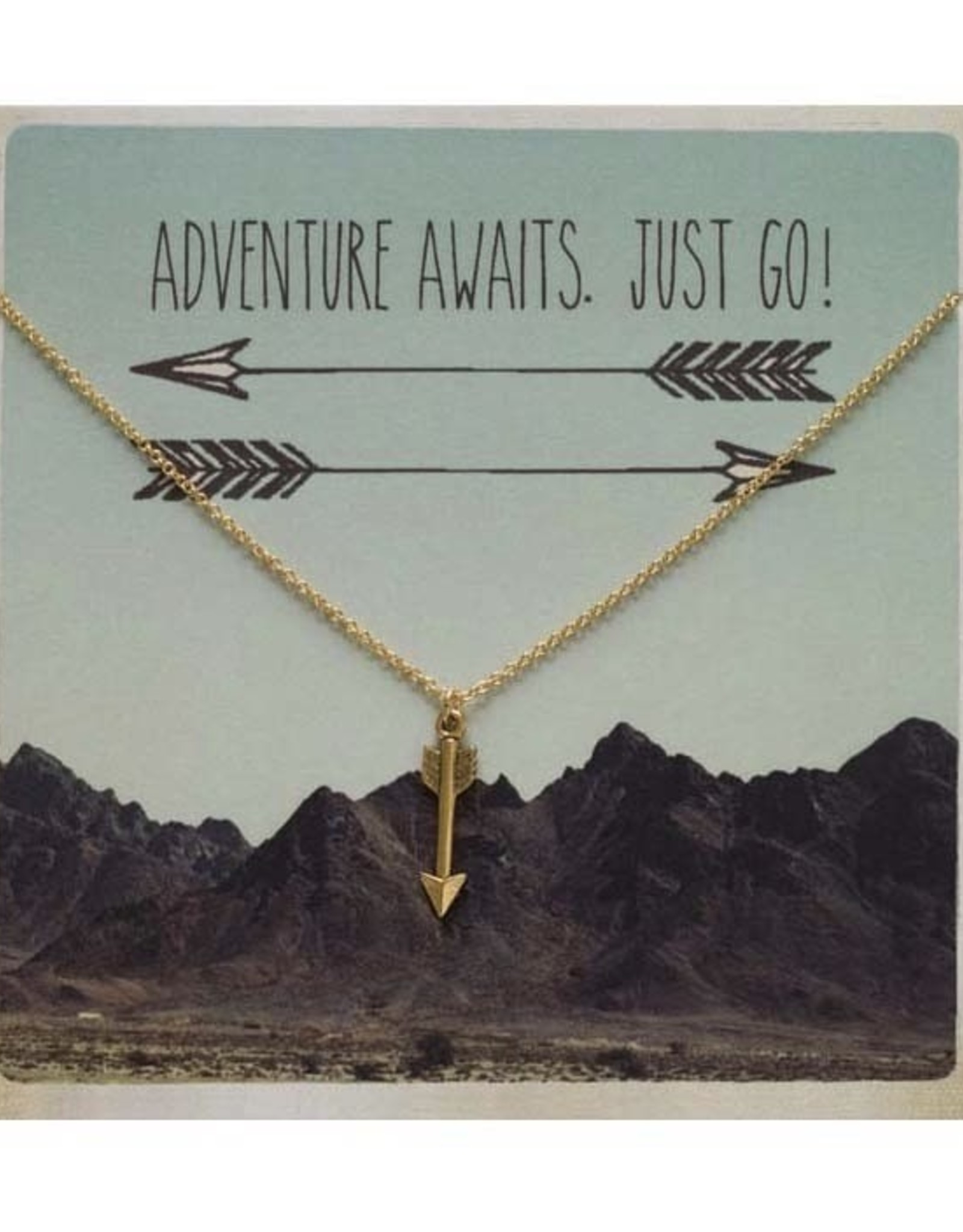 AMANO studio ARROW, Gift Charm Necklace, 24k Gold Plated