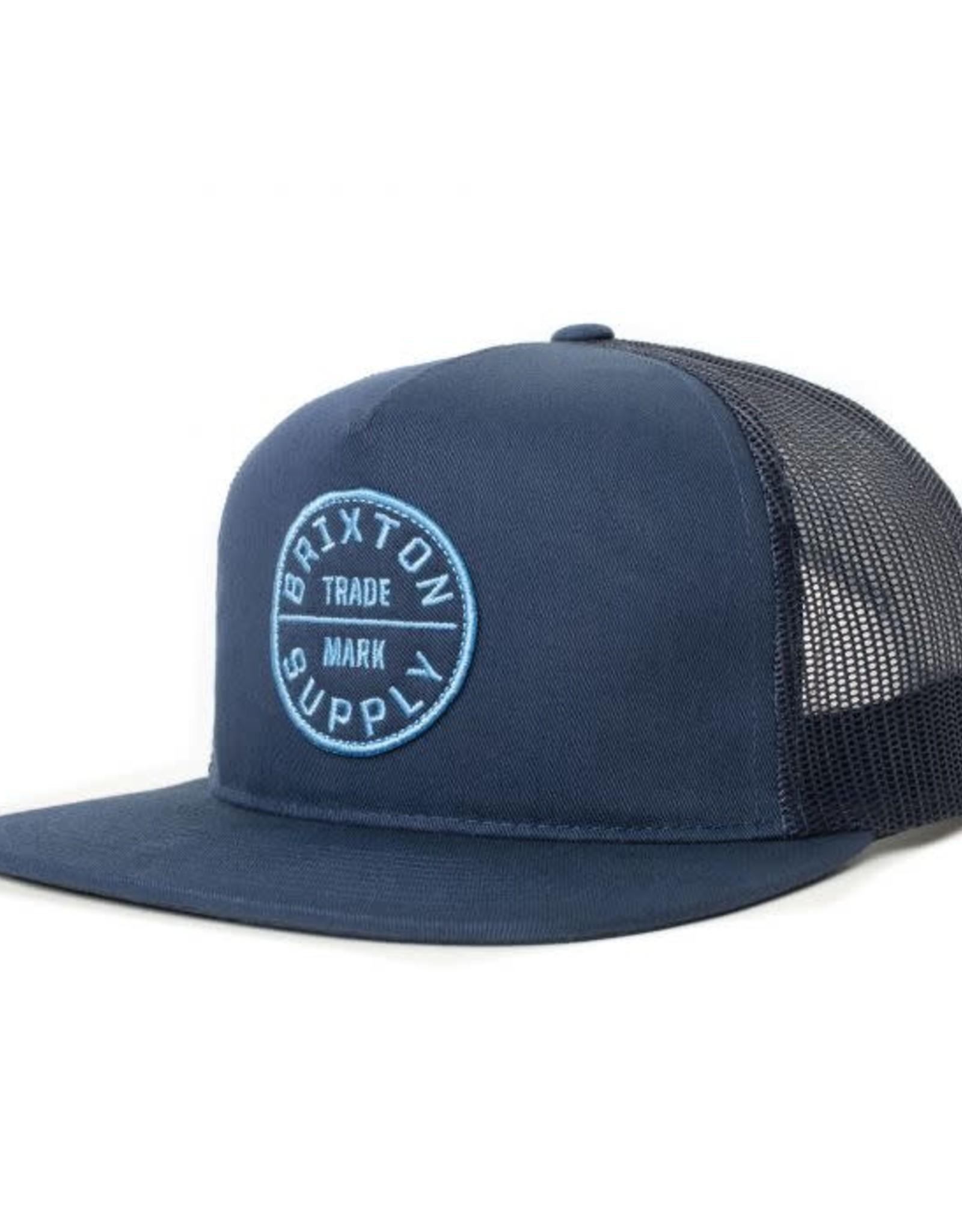 BRIXTON Oath III Mesh Cap - Washed Navy, Snapback