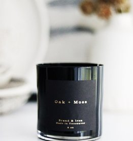 Brand & Iron Dark Spaces Oak and Moss Candle