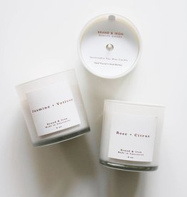 Brand & Iron Home Series Jasmine and Vetiver Candle