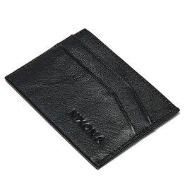 NIXON Flaco Leather Card Wallet, BLACK