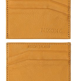 NIXON Flaco Leather Card Wallet, YELLOW