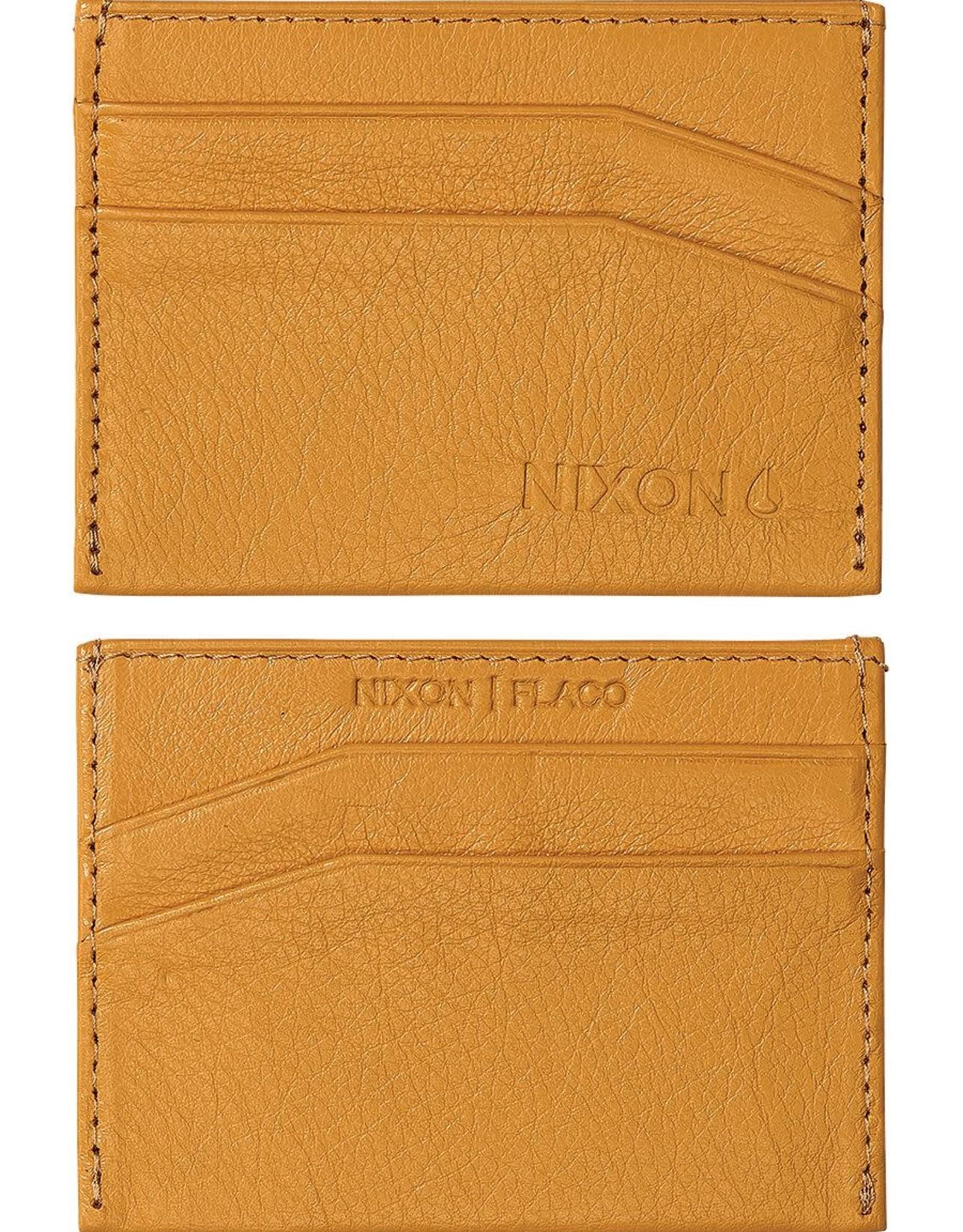 NIXON Flaco Leather Card Wallet, YELLOW