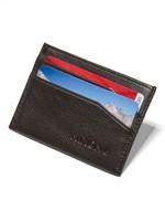 NIXON Flaco Leather Card Wallet, DK BROWN