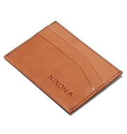 NIXON Flaco Leather Card Wallet, TAN