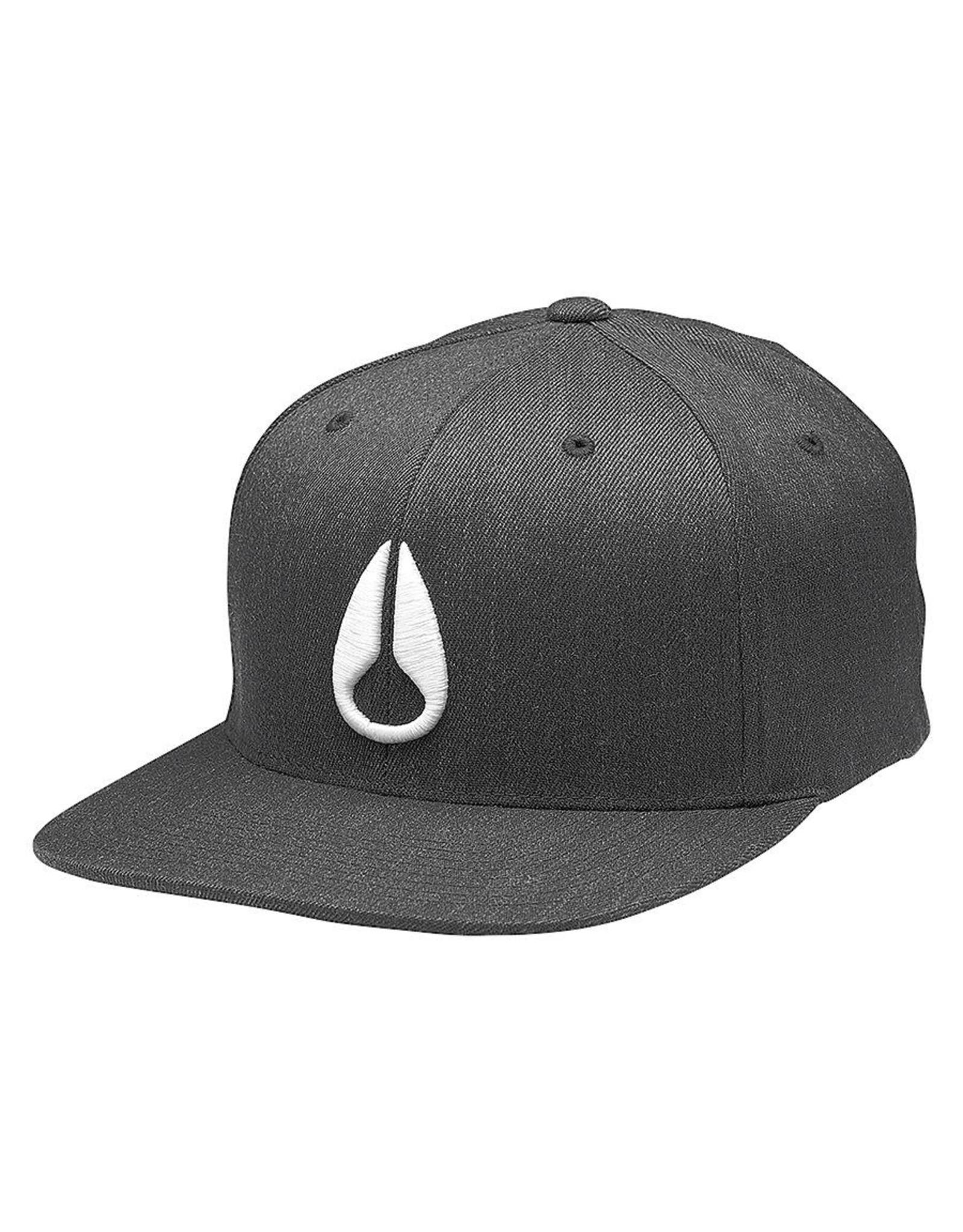 NIXON Deep Down FlexFit Hat Black Heather/ White