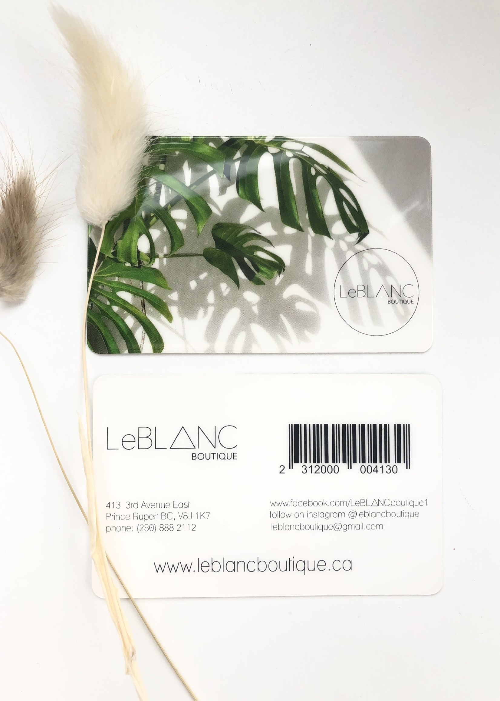 LeBLANC finds Gift Cards, more amount options