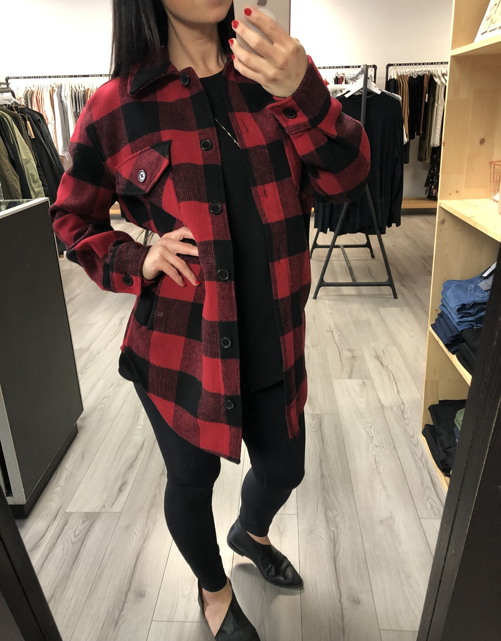 RD STYLE RECYCLED Fibers, Classic Plaid Jacket