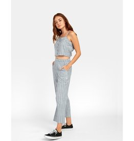 RVCA GRATITUDE STRIPED HIGH RISE TROUSER