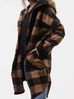RD STYLE PLAID jacket with shearing lined hood and cuffs