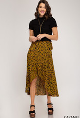 LeBLANC finds HI LOW, Cheetah Pleated skirt