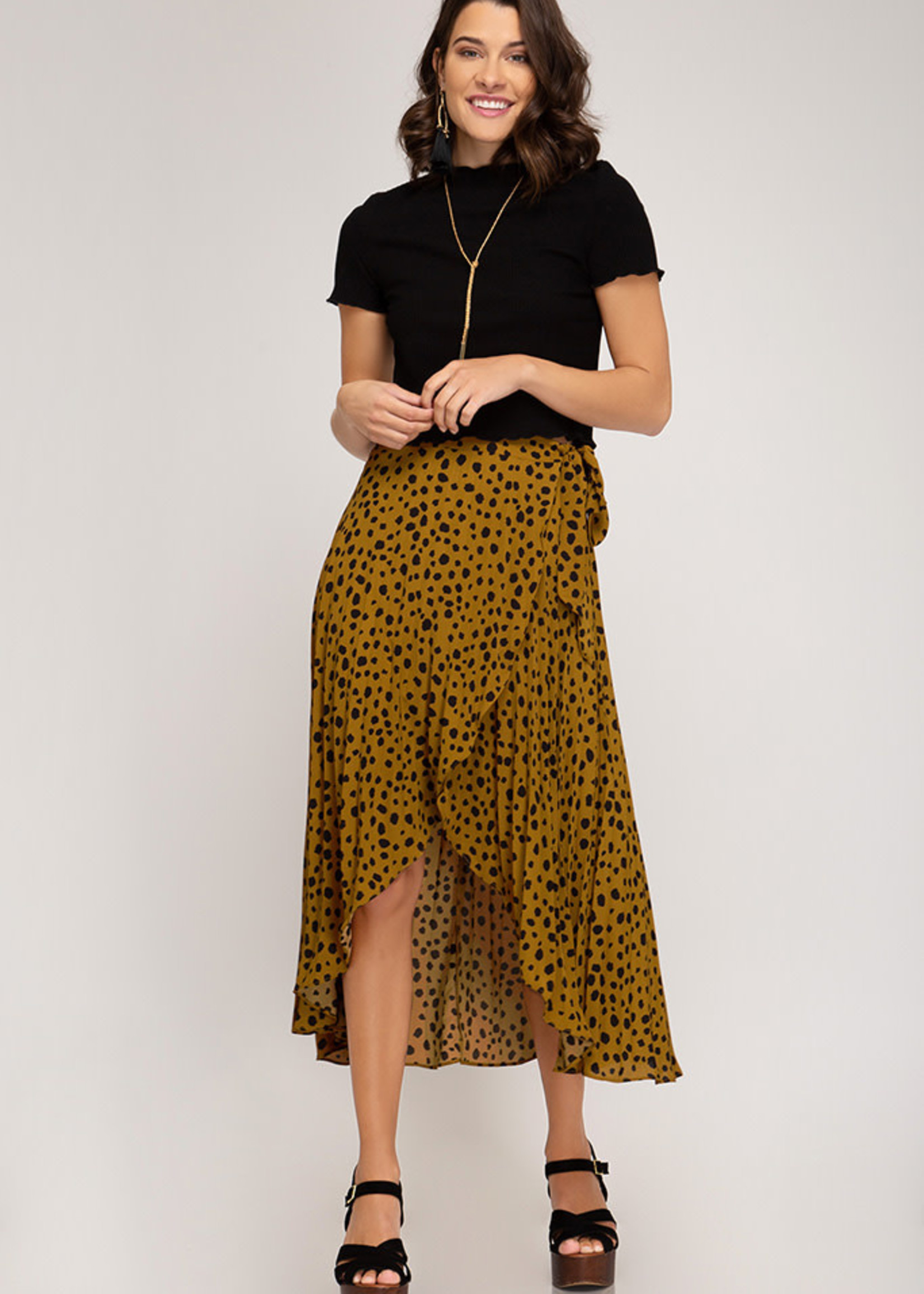 LeBLANC finds HI LOW, Cheetah Pleated skirt