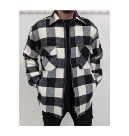 RD STYLE MEN'S ZIP UP PLAID