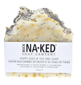 BUCK NAKED Poppy Seed & Tee Tree SOAP