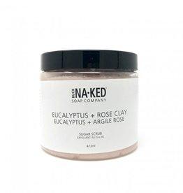 BUCK NAKED Eucalypus & Pink Clay SUGAR SCRUB