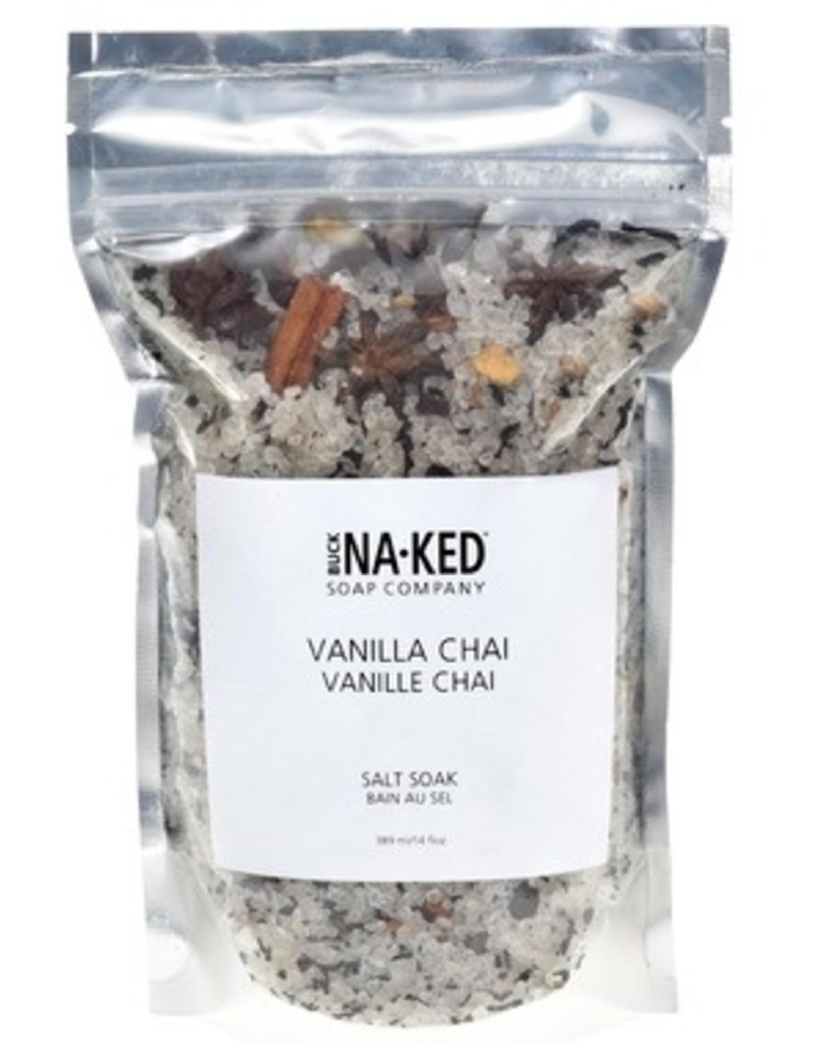 BUCK NAKED Vanilla Chai SALT SOAK