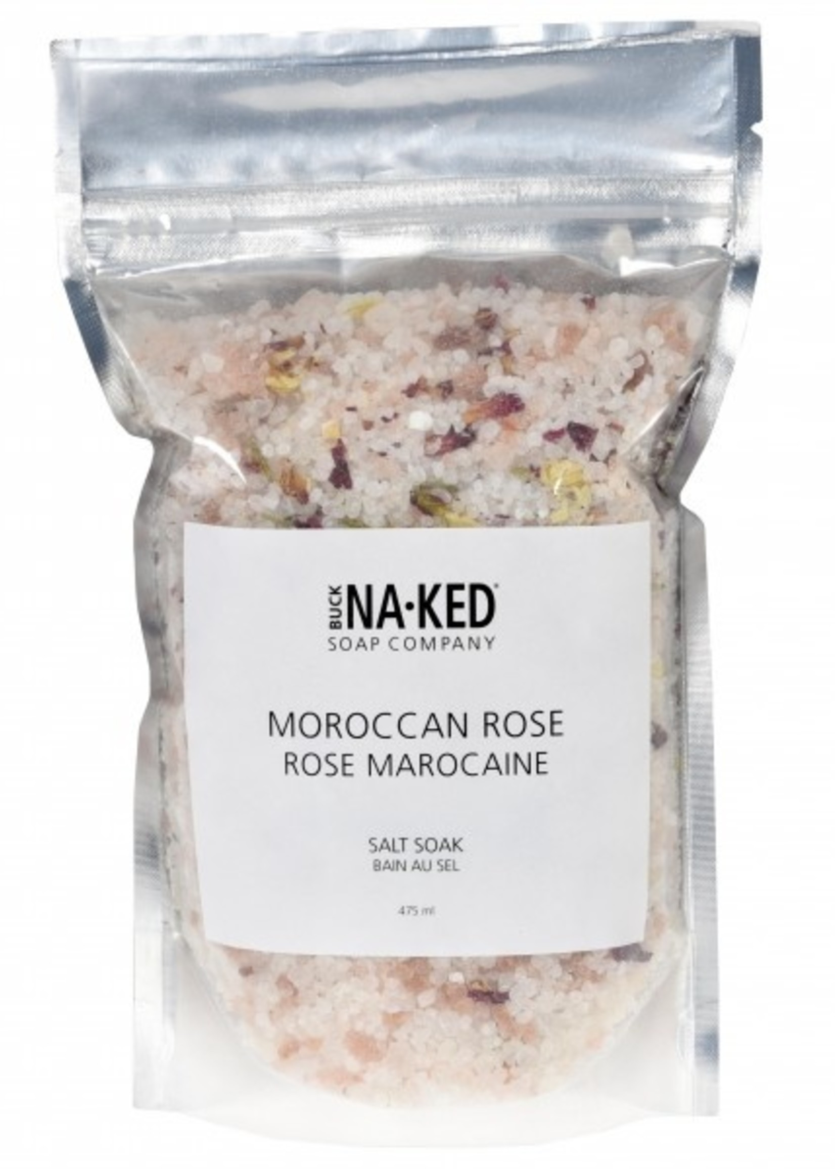 BUCK NAKED Moroccan Rose SALT SOAK