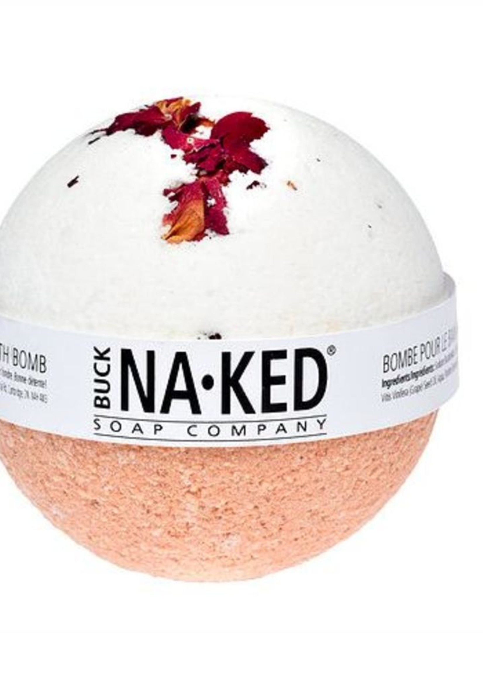 BUCK NAKED Rose & Moroccan Red Clay BATH BOMB