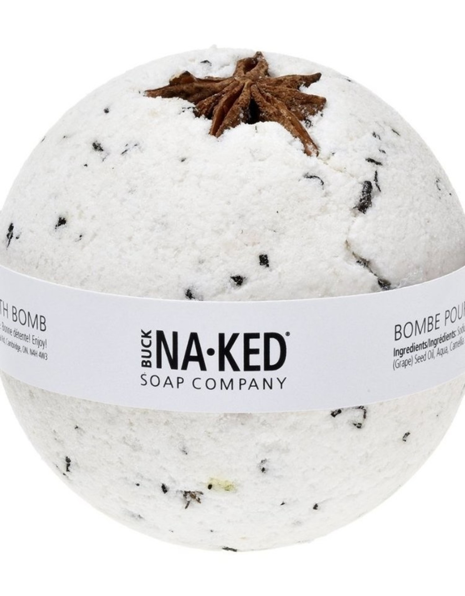 BUCK NAKED Vanilla Chai BATH BOMB