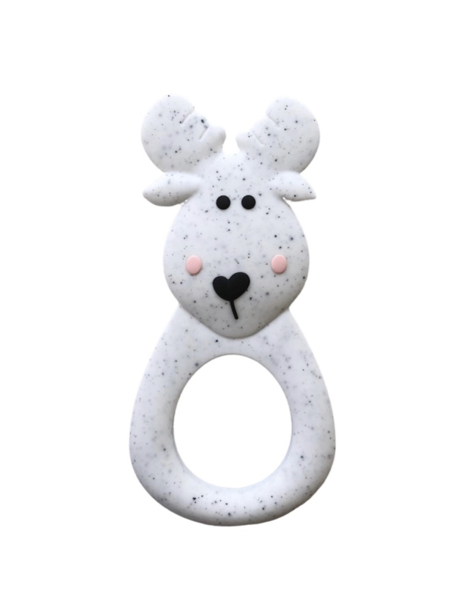 LITTLE CHEEKS Speckle Moose SILICONE TEETHER