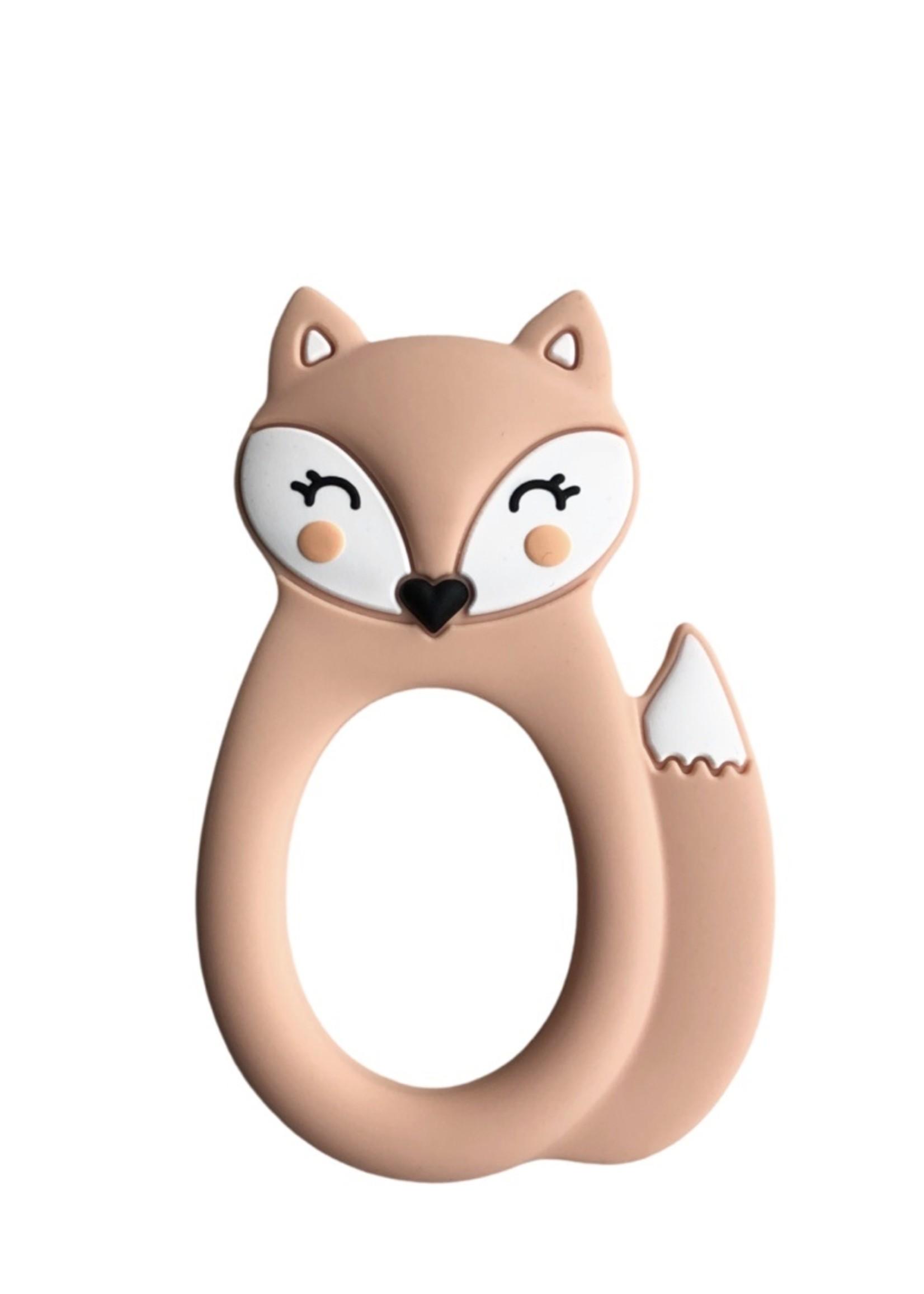 LITTLE CHEEKS Peach Fox SILICONE TEETHER