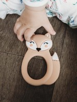 LITTLE CHEEKS Peach Fox SILICONE TEETHER