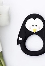 LITTLE CHEEKS Black Penguin SILICONE TEETHER