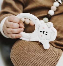LITTLE CHEEKS Warm Marble Fox SILICONE TEETHER
