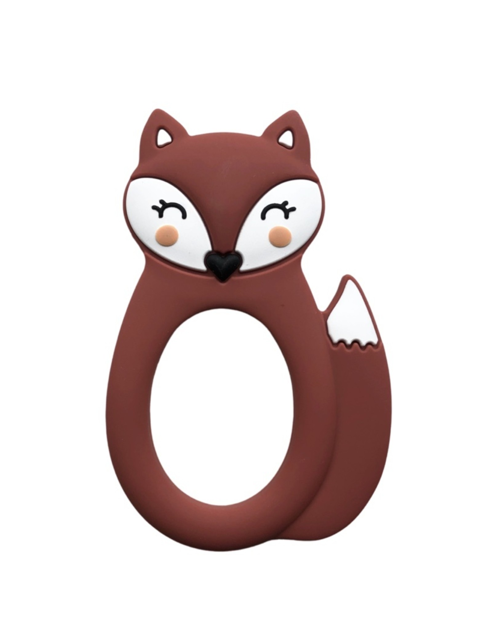 LITTLE CHEEKS Rust Fox SILICONE TEETHER