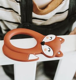LITTLE CHEEKS Rust Fox SILICONE TEETHER