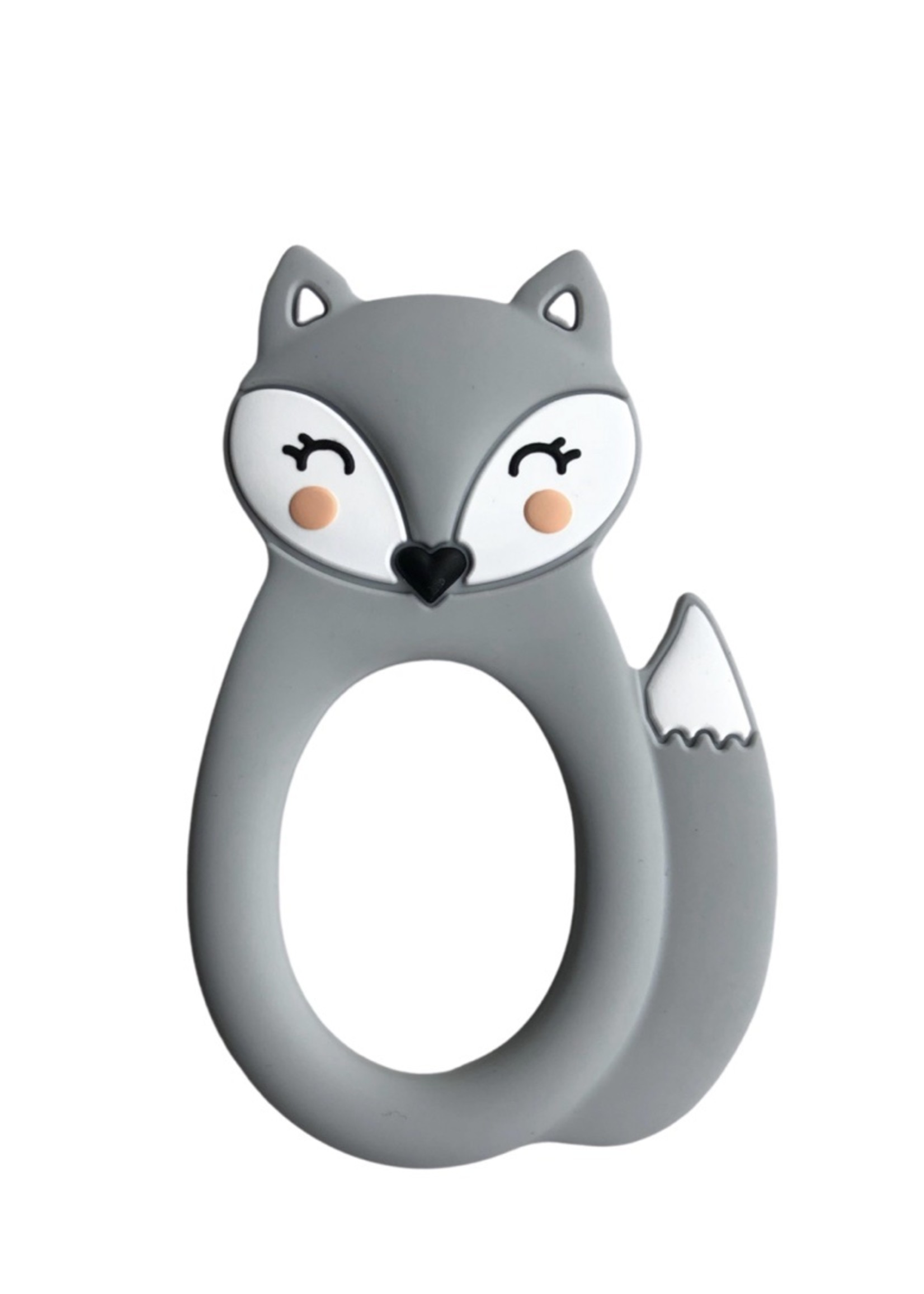 LITTLE CHEEKS LITTLE CHEEKS Grey Fox SILICONE TEETHER