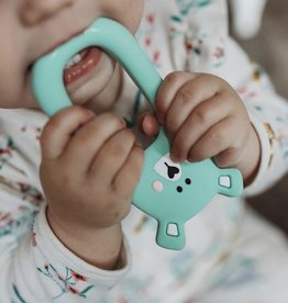 LITTLE CHEEKS Mint Bear SILICONE TEETHER