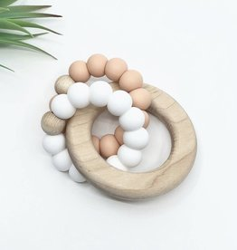 LITTLE CHEEKS Oatmeal DUO RATTLE