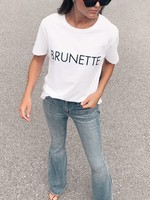 "BRUNETTE  the label The ""BRUNETTE"" Classic Crew Neck Tee"